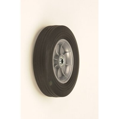 "Harper Trucks 10"" X 2 1/2"" Offset Poly Hub Solid Rubber Wheel"