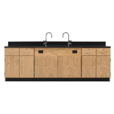 Diversified Woodcrafts Wall Service Bench With Door & Drawer