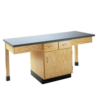 Diversified Woodcrafts 4 Station Science Table With Storage Cabinet &amp; Drawers