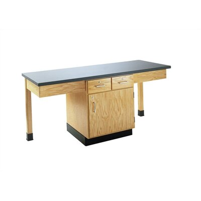 Diversified Woodcrafts 2 Station Science Table With Storage Cabinet