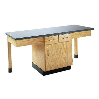 Diversified Woodcrafts 4 Station Science Table With Storage Cabinet