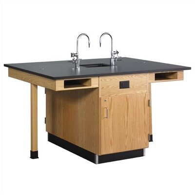 Diversified Woodcrafts Double Faced 4 Student Island Workstation