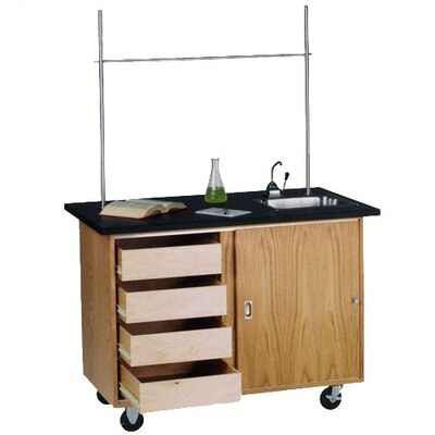 Diversified Woodcrafts Mobile Demonstration Table With Drawers
