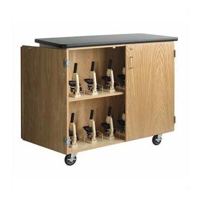Diversified Woodcrafts Mobile Microscope Storage Cabinet