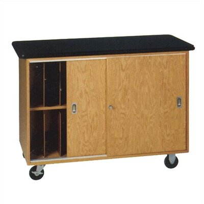 Diversified Woodcrafts Mobile Laptop Storage Cabinet