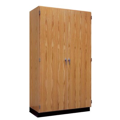 "Diversified Woodcrafts Hinged 48"" Storage Case with Oak Doors"
