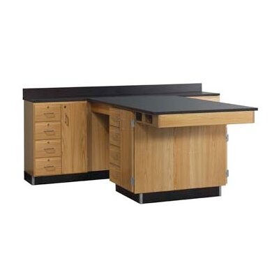 Diversified Woodcrafts Perimeter Workstation