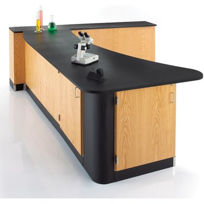 Diversified Woodcrafts Peninsula Workstation