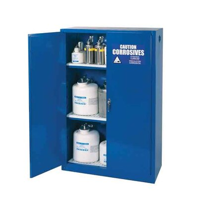 "Diversified Woodcrafts 65"" H x 43"" W x 18"" D Acid and Corrosive Storage Cabinet"