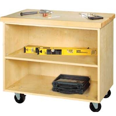 "Diversified Woodcrafts Mobile Series 33"" H x 36"" W x 24"" D Storage Cabinet"