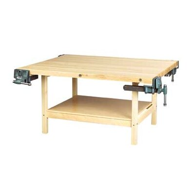 Diversified Woodcrafts Two Station Maple Top Workbench