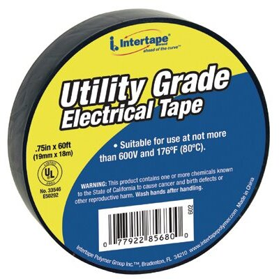 "Intertape Polymer Group General Purpose Vinyl Electrical Tapes - ut-602 3/4""x60' 7-mil electrical tape black-"