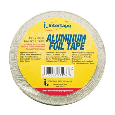 "Intertape Polymer Group 2"" x 50 Yards Aluminum Foil Tape"
