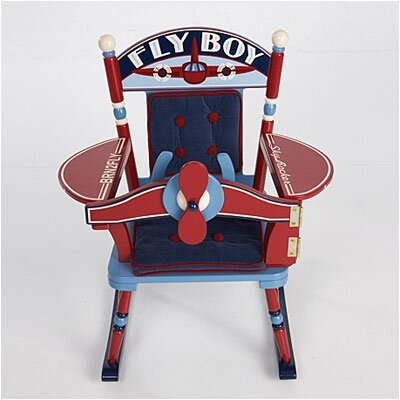 Levels of Discovery Rock A Buddies Fly Boy Airplane Kid's Rocking Chair