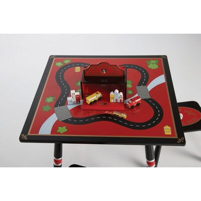 Levels of Discovery Firefighter Kids' 3 Piece Table and Stool Set