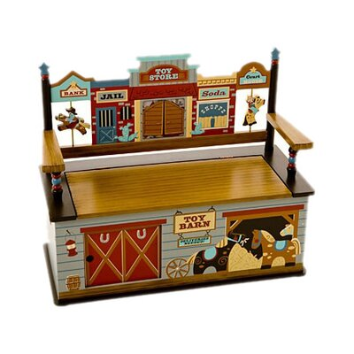 Wild West Kid's Storage Bench