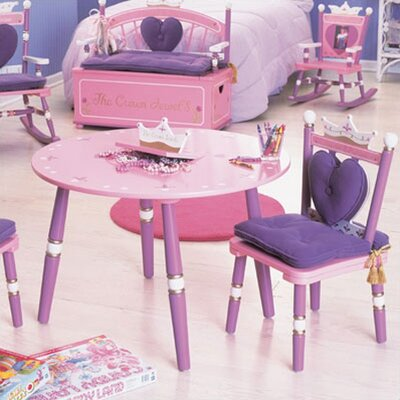Levels of Discovery Princess Kids' 3 Piece Table and Chair Set