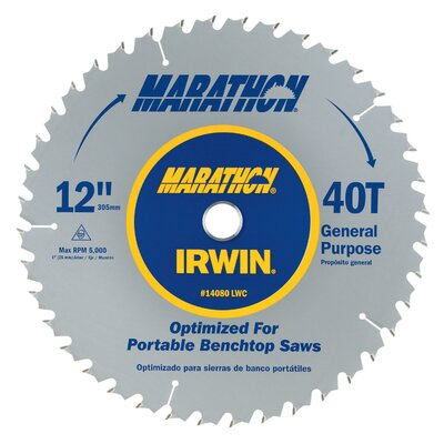 "Irwin 12"" Marathon® Miter & Table Saw Blades"