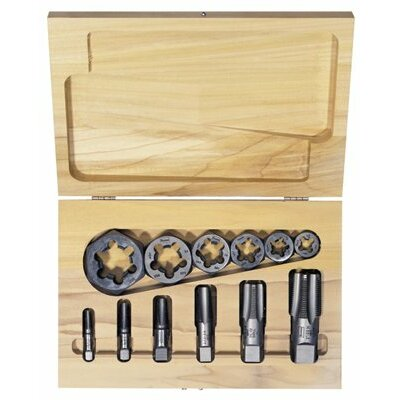 Irwin HSS 12-Piece Cut Thread Tap & High Carbon Steel Re-Threading Pipe Die Sets - hss pipe tap & hex reth