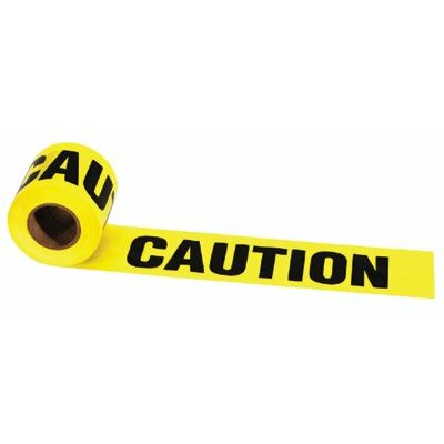 "Irwin Barrier Tapes - 3""x1000' caution-constru"