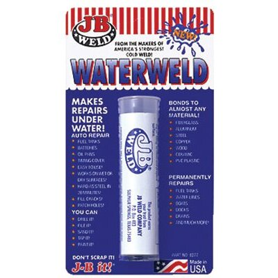 J-B Weld J-B Weld - Water Weld Compounds J-B Weld: 803-8277 - j-b waterweld epoxy putty-white