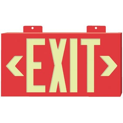 Jessup Glo Brite® Eco Framed Exit Signs - glo brite eco framed exit signs red frame