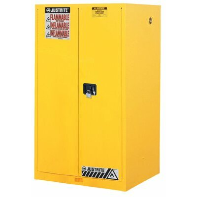 Justrite Yellow Safety Cabinets for Flammables - 60 gallon cabinet manualdoor yellow