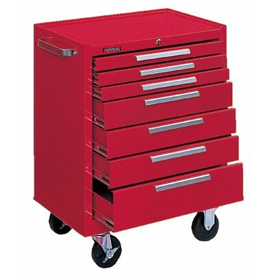 Kennedy Industrial Series Roller Cabinets - 10146 roller cabinet 7 drawer smooth red
