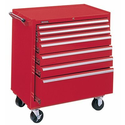 Kennedy Professional Series Roller Cabinets - 10157 roller cabinet 7 drawer w/b.b tb lock red