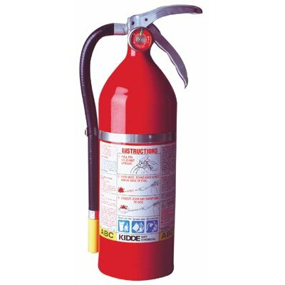 Kidde Kidde - Proplus Multi-Purpose Dry Chemical Fire Extinguishers - Abc Type Tri Class Tri Chemical Steel Cylndr Extinguisher: 408-468001 - tri class tri chemical steel cylndr extinguisher
