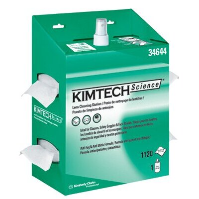 Kimberly-Clark Kimtech Science® Kimwipes® Lens Cleaning Stations - kimwipes lens cleaning station 1120 wipers/stati