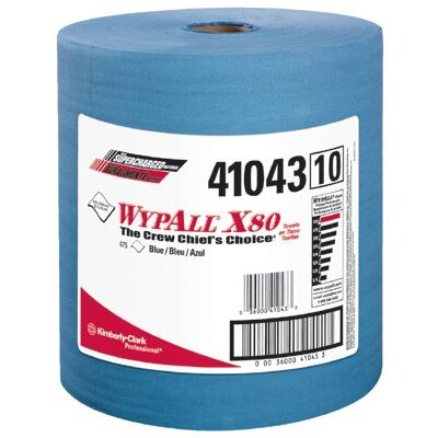 Kimberly-Clark WypAll® X80 Towels - wypall x80 shop pro cloth towel blue 475/roll