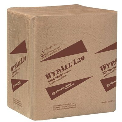 "Kimberly-Clark WypAll® L20 Wipers - 11.75""x15"" tan kimtowelq-fold wipe 4-ply"