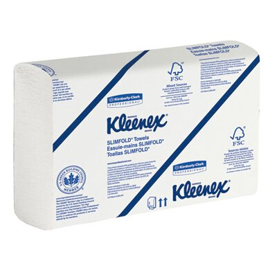Kimberly-Clark Kleenex Slimfold Hand Towels in White