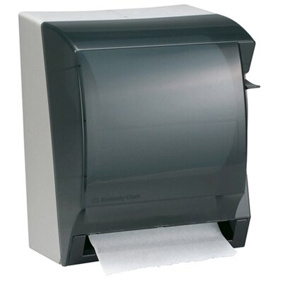 "Kimberly-Clark 12"" In-Sight Lev-R-Matic Roll Towel Dispenser in Smoke / Gray"
