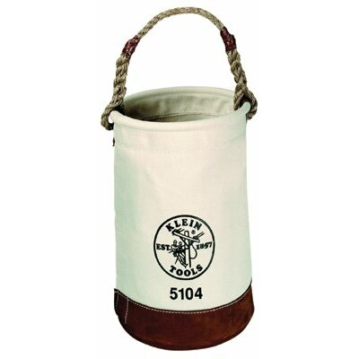 Klein Tools Leather-Bottom Buckets - canvas bucket