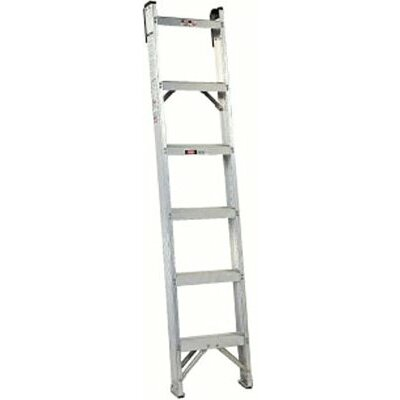 Louisville Ladder AH1000 Series Master Aluminum Shelf Ladders - 14' master aluminum shelf ladder