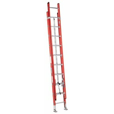 Louisville Ladder FE7000 Series Fiberglass Plate Connect Extension Ladders - 20' d-rung 2 section extladder fiberglass