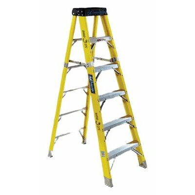 Louisville Ladder FS1100HD Series Rhino 375™ Fiberglass Step Ladders - 6' rhino 375 fiberglassstep ladder