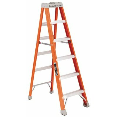 Louisville Ladder FS1500 Series Fiberglass Step Ladders - 12' advent fiberglass step ladder 300lb.