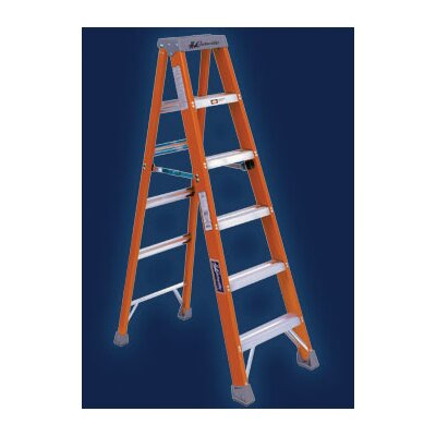 Louisville Ladder Type IA Non-Conductive Fiberglass Stepladder, 300 Pound Work Load Capacity