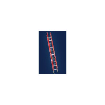 Louisville Ladder Type IA Non-Conductive Fiberglass Extension Ladder, 300 Pound Work Load Capacity