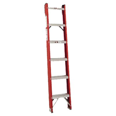<strong>Louisville Ladder</strong> FH1000 Series Classic Fiberglass Shelf Ladders - 8' fiberglass classic shelf ladder