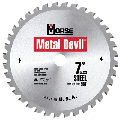 M.K. Morse Metal Devil™ Circular Saw Blades - 8in 60t alum. cutting circular blade-5/8in arbor