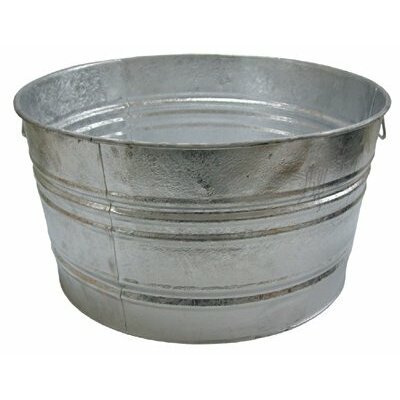 Magnolia Brush Galvanized Round Tubs - 48.61-qt. galvanized tub