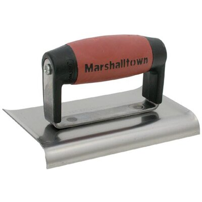 "Marshalltown 4"" X 6"" Curved End Stainless Steel Edgers  138SSD"