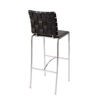 Eurostyle Carlsen Bar Chair in Brown  (Set of 2)