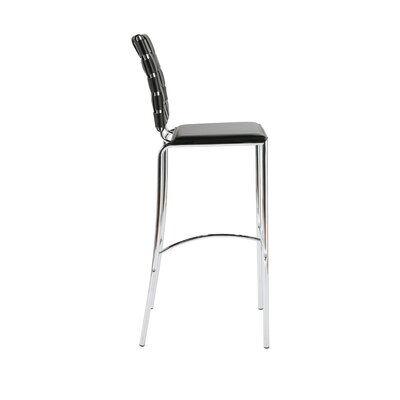 Eurostyle Carlsen Bar Chair in Black  (Set of 2)