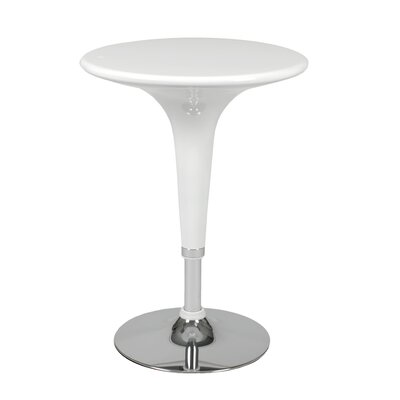 Clyde Adjustable Bar Table in White