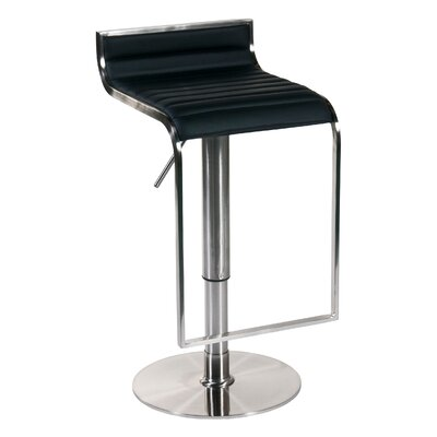 Eurostyle Forest Adjustable Bar Stool in Black Leather